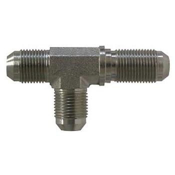 7/16-20 JIC x 7/16-20 JIC Steel Bulkhead Run Tee Hydraulic Fittings