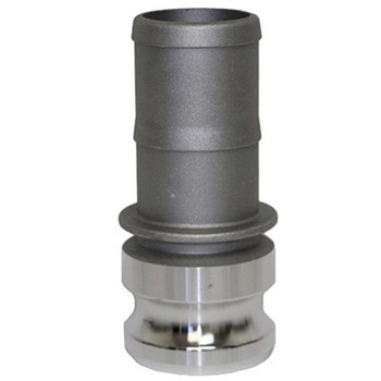 6 in. Type E Adapter Aluminum Male Adapter x Hose Shank, Cam & Groove/Camlock Fitting