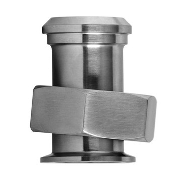 4 in. 17MP-14 Adapter With Hex Nut (3A) 316L Stainless Steel Sanitary Clamp Fitting