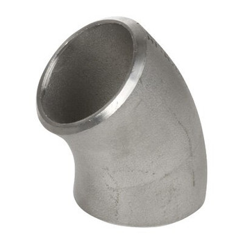 4 in. 45 Degree Elbow - SCH 40 - 304/304L Stainless Steel Butt Weld Pipe Fitting