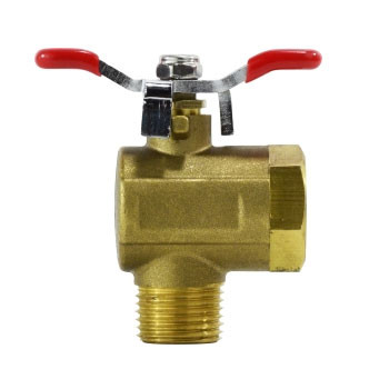 1/4 in. 250 PSI, Right Angle Tee Handle Brass Ball Valve