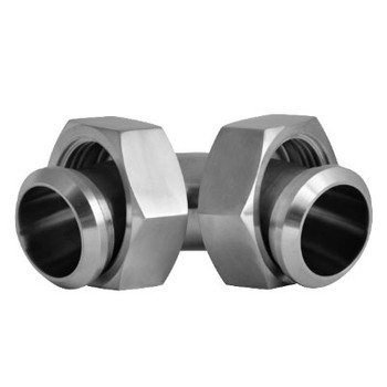 2 in. 2E 90 Degree Sweep Elbow With Hex Nuts (3A) 304 Stainless Steel Sanitary Fitting