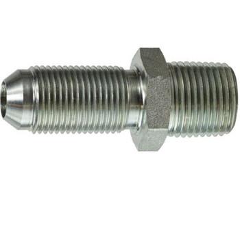 9/16-18 x 3/8 in. JIC to Male Pipe Steel Bulkhead Hydraulic Adapter