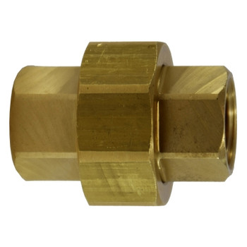 3/8 in. Union, FIP x FIP Connection, NPTF Threads, Up to 1200 PSI, Brass, Pipe Fitting