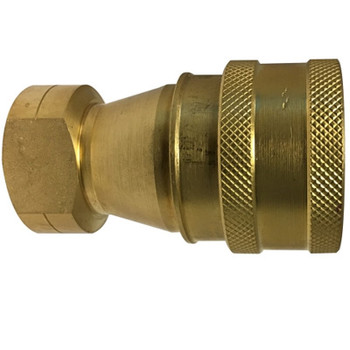 3/4 in. ISO-B Female Pipe Coupler Quick Disconnect Hydraulic Adapter Brass