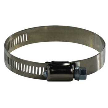#8 Worm Gear Hose Clamp, 1/2 Wide Band, 611 Series Stainless Steel