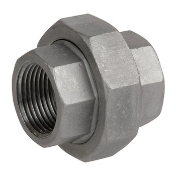 1/2 in. Female Union - 150# NPT Threaded 304 Stainless Steel Pipe Fitting