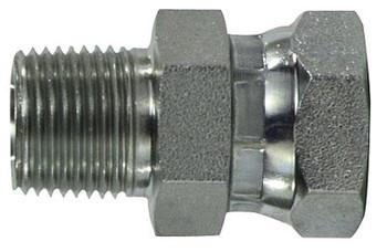 3/8 in. Male NPT x 1/2 in. Female NPSM Steel Pipe Swivel Adapter