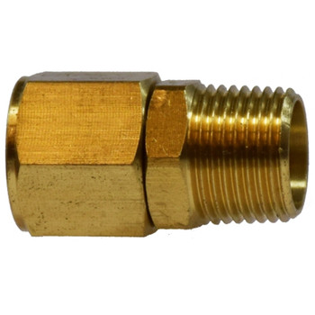 3/8 in. Pipe Swivel Adapter, MNPTF x FNPTF Thread Connection, 300 PSI, Brass, Pipe Fitting