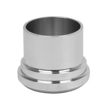 3 in. Long Plain Bevel Seat Ferule - 14A - 316L Stainless Steel Sanitary Fitting (3-A) Front View