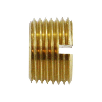 1/8 in. Slotted Head Plug, NPTF Threads, 1200 PSI Max, Brass, Pipe Fitting