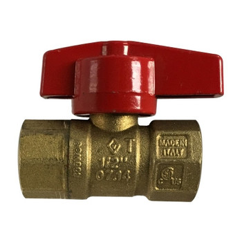 3/4 in. IPS CSA Gas Ball Valve, Female X Female, Forged Brass Body, Made in Italy