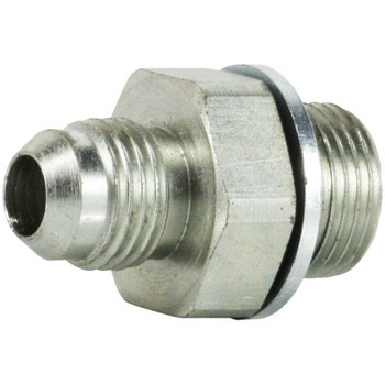 7/16-20 x 1/4-19 MJIC x MBSPP Male Connector Steel Hydraulic Adapter
