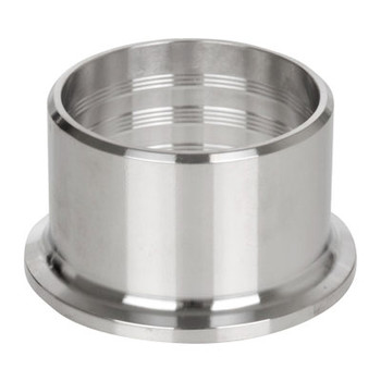 4 in. 14RMP Recessless Ferrule (3A) 304 Stainless Steel Sanitary Clamp End Fitting