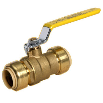 1 in. Valve QuickBite (TM) Push-to-Connect/Press On Tube Fitting, Lead Free Brass (Disconnect Tool Included)