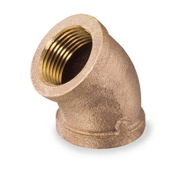 1/4 in. Threaded NPT 45 Degree Elbow, 125 PSI, Lead Free Brass Pipe Fitting