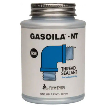 1/2 Pint Gasoila Blue Non-Teflon Non-PTFE Pipe Thread Sealant, -50 to 400 Degree F, Brush Included