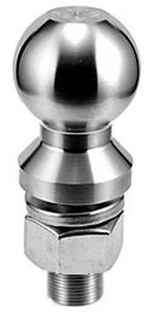 """Stainless Steel Hitch Ball  2"""" Ball Diameter x 1"""" Shank Diameter x 2"""" LONG Shank Length Made in USA"""