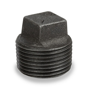 1 in. Pipe Fitting Ductile Iron Square Head Plug NPT Threaded Class 300 UL/FM
