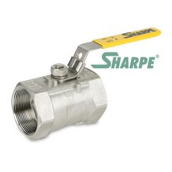 1/4 in. 316 Stainless Steel Ball Valve 800 WOG Reduced Port Threaded 1-Piece Sharpe Series 58876