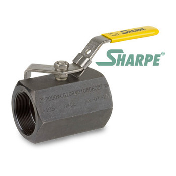 2 in. Carbon Steel Ball Valve 2000 WOG Reduced Port Threaded 1-Piece Sharpe Series 58B74