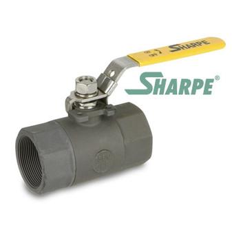 1 in. Carbon Steel Ball Valve 2000 WOG Standard Port Threaded 2-Piece Sharpe Series 54574