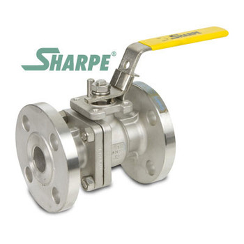 2-1/2 in. 316 Stainless Steel Ball Valve 150# Flanged Full Port ISO Mounting Pad Sharpe Series 50116