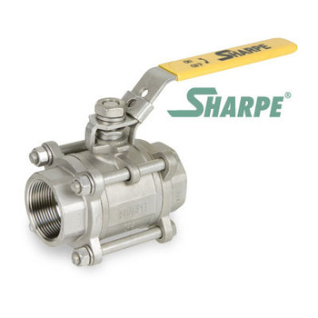 2 in. 316 Stainless Steel Ball Valve 1000 WOG Full Port Threaded 3-Piece Sharpe Valve Series 39036