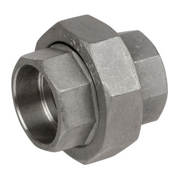 2 in. Pipe Fitting Stainless Steel Socket Weld Unions 316SS 150 PSI