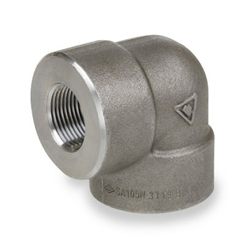 3/4 in. 6000# Pipe Fitting Forged Carbon Steel 90 Degree Elbow NPT Threaded
