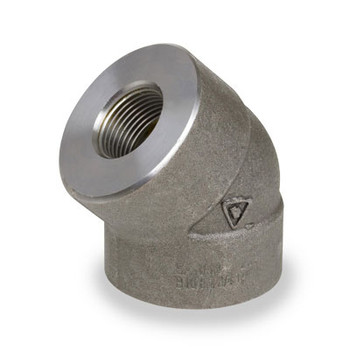 1-1/4 in. 6000# Pipe Fitting Forged Carbon Steel 45 Degree Elbow NPT Threaded