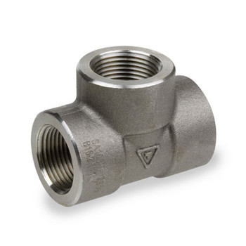 1-1/2 in. 2000# Pipe Fitting Forged Carbon Steel Tee NPT Threaded