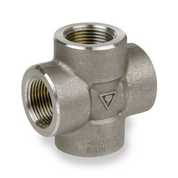 1-1/2 in. Pipe Fitting 2000# Forged Carbon Steel Cross NPT Threaded