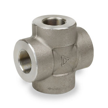 2 in. Pipe Fitting 6000# Forged Carbon Steel Cross NPT Threaded