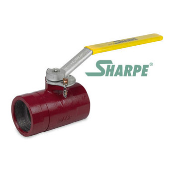 2 in. Ductile Iron 1000 PSI 2 Piece Standard Port Threaded Ball Valve w/ Locking Lever Handle - Sharpe Series SVOP54DA6RV