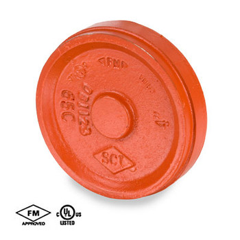 1-1/4 in. Grooved Fitting Cap Orange Paint Coating UL/FM - 65C COOPLOK