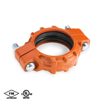 "2 in. Standard Weight Flexible Coupling with EPDM ""C"" Gasket Orange Paint Housing UL/FM-65SF - COOPLOK Grooved Couplings"