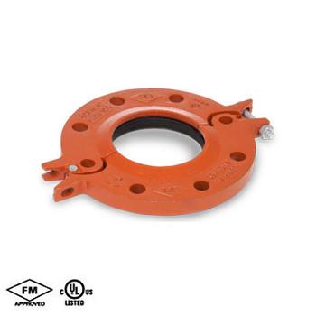 10 in. Hinged Flange Adapter EPDM Gasket Orange Paint Housing UL/FM- 65FH COOPLOK Grooved Fitting
