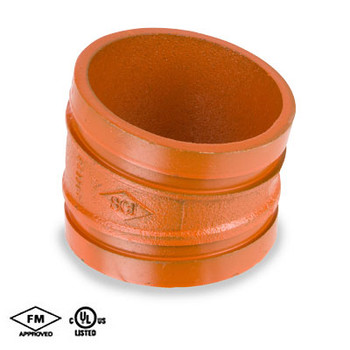 4 in. Grooved 11-1/4° Elbow Standard Radius Orange Paint Coating UL/FM-65EL