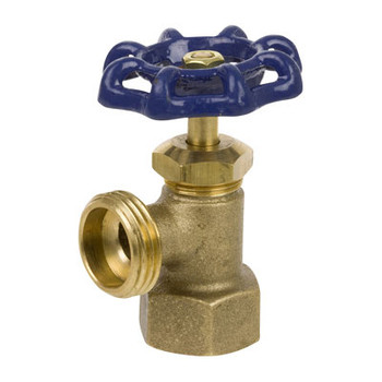 1/2 in. Cast Brass 125 CWP FIP Inlet Boiler Drain - Series 100