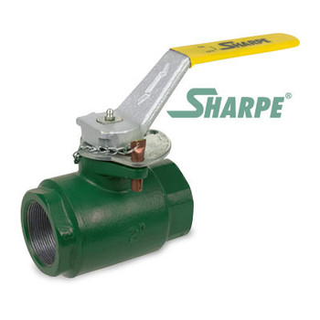 1 in. Ductile Iron 2000 psi Standard Port Threaded Ball Valve - Sharpe Series SVOP54DB6RV