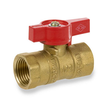 1 in. Forged Brass FIP X FIP Straight 2-Piece Gas Valve Series 200