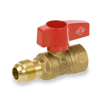 1/2 in. x 1/2 in. Forged Brass FIP x Flare Straight 2-Piece Gas Valve Series 230