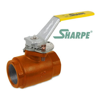 2 in. Carbon Steel 2500 psi Standard Port Threaded Ball Valve - Sharpe Series SVOP54CQ6DV