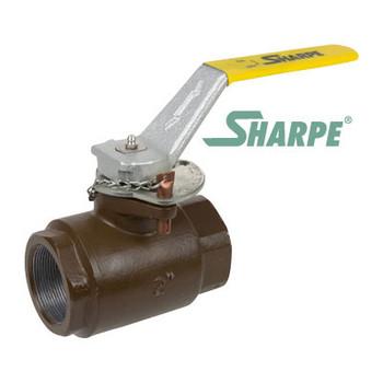 "2"" Carbon Steel 3000 psi Standard Port Threaded Ball Valve - Sharpe Series SVOP54CC6DV"