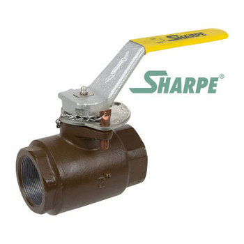 "2"" Carbon Steel 3000 psi Standard Port Threaded Ball Valve - Sharpe Series SVOP54CC6DV"