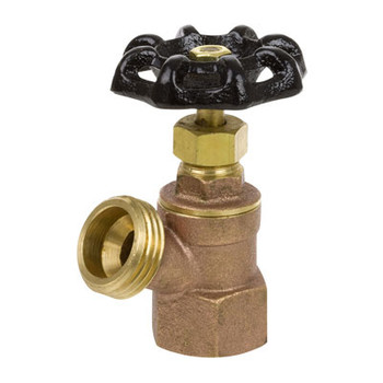 1/2 in. Cast Brass 125 CWP FIP Inlet Boiler Drain with Stuffing Box - Series 102