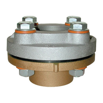 4 in. Female IPS x Brass Sweat Dielectric Union - Flange Style Series 209FX