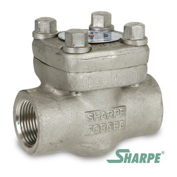1-1/4 in. Forged Stainless Steel Class 800 Threaded Piston Check Valve - Sharpe Series SV24836
