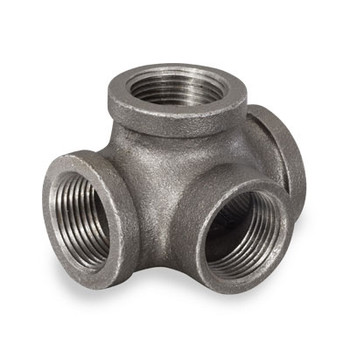 2 in. Black Threaded Side Outlet Tee, Malleable Iron 150#, UL/FM Pipe Fitting
